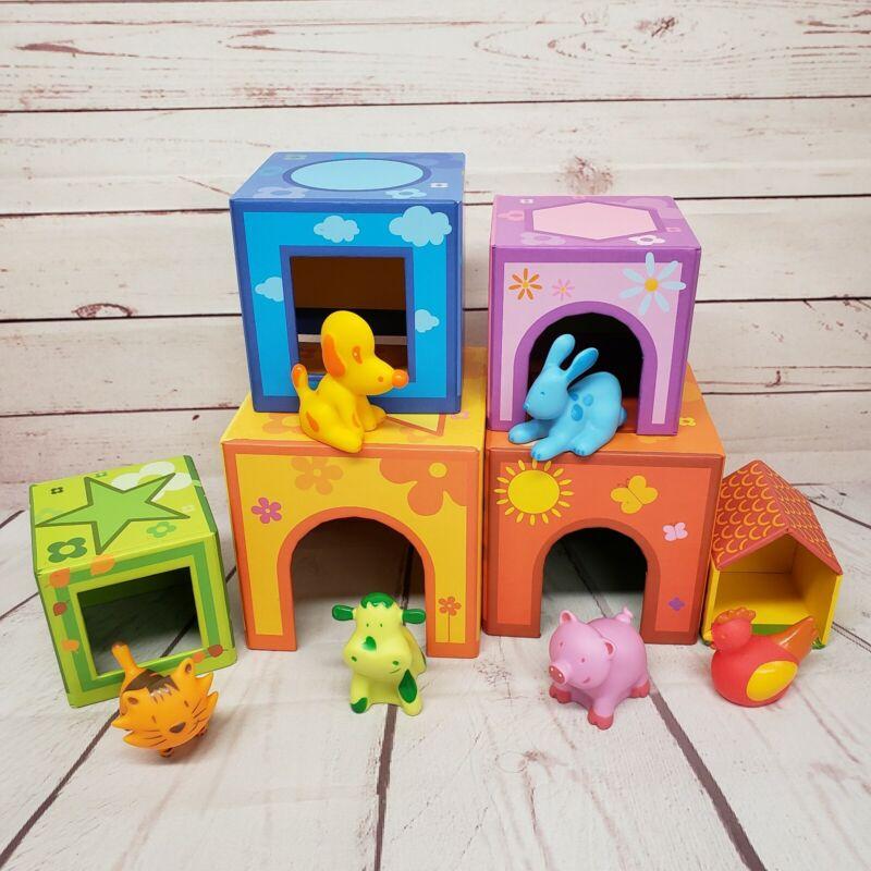 Djeco Topanimo Animals Stacking Nesting Blocks Toy