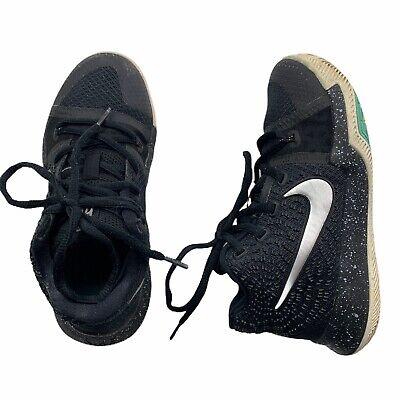 Nike Kyrie 3 Basketball Shoes Oreo Black White Silver 869985-018 Size 1Y GUC