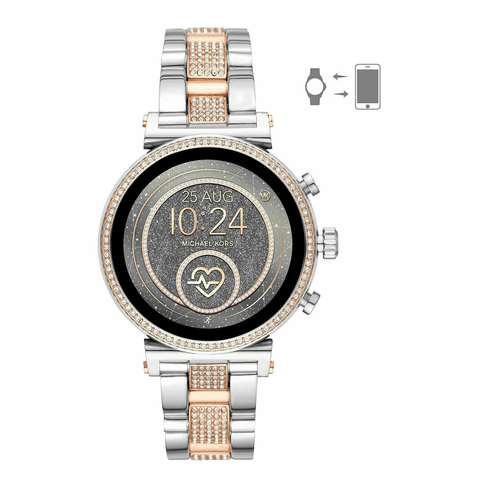Michael Kors Access Silver Rose Ladies Sofie Smart Watch MKT