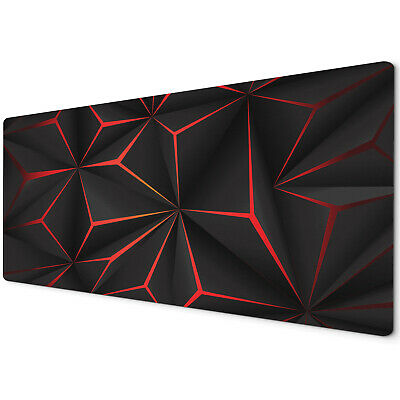 60 X 30cm Extra Large Xl Desk Mouse Pad Mat Gaming Geometric Black Red