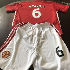 Kid's large Manchester United #6 Pogba jersey and shorts