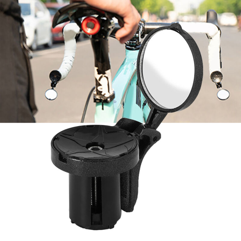 Rotatable Handlebar Plug Rear View Mirror for Road Bike Bicycle Cycling Safety