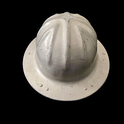 Vintage B.f. Mcdonald Co. Full Brim Aluminum Hard Hat With Original Liner Clean