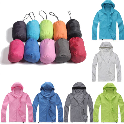 Unisex Men Women Hoodie Windproof Jacket Casual Hiking Hoode