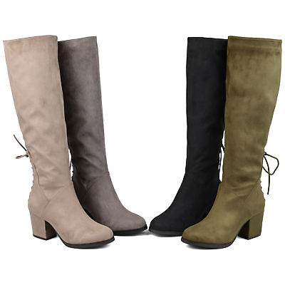 Brinley Co. Womens Loela Standard, Wide Calf, and Extra Wide Calf Heeled (Boots And Heels)