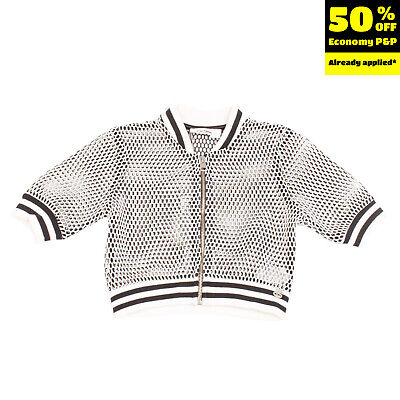 RRP €130 SO TWEE By MISS GRANT Jacket Size 6Y See-Through Openwork Cropped