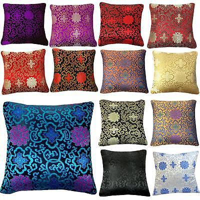Pillow Cover*Chinese Rayon Brocade Throw Seat Pad Cushion Ca