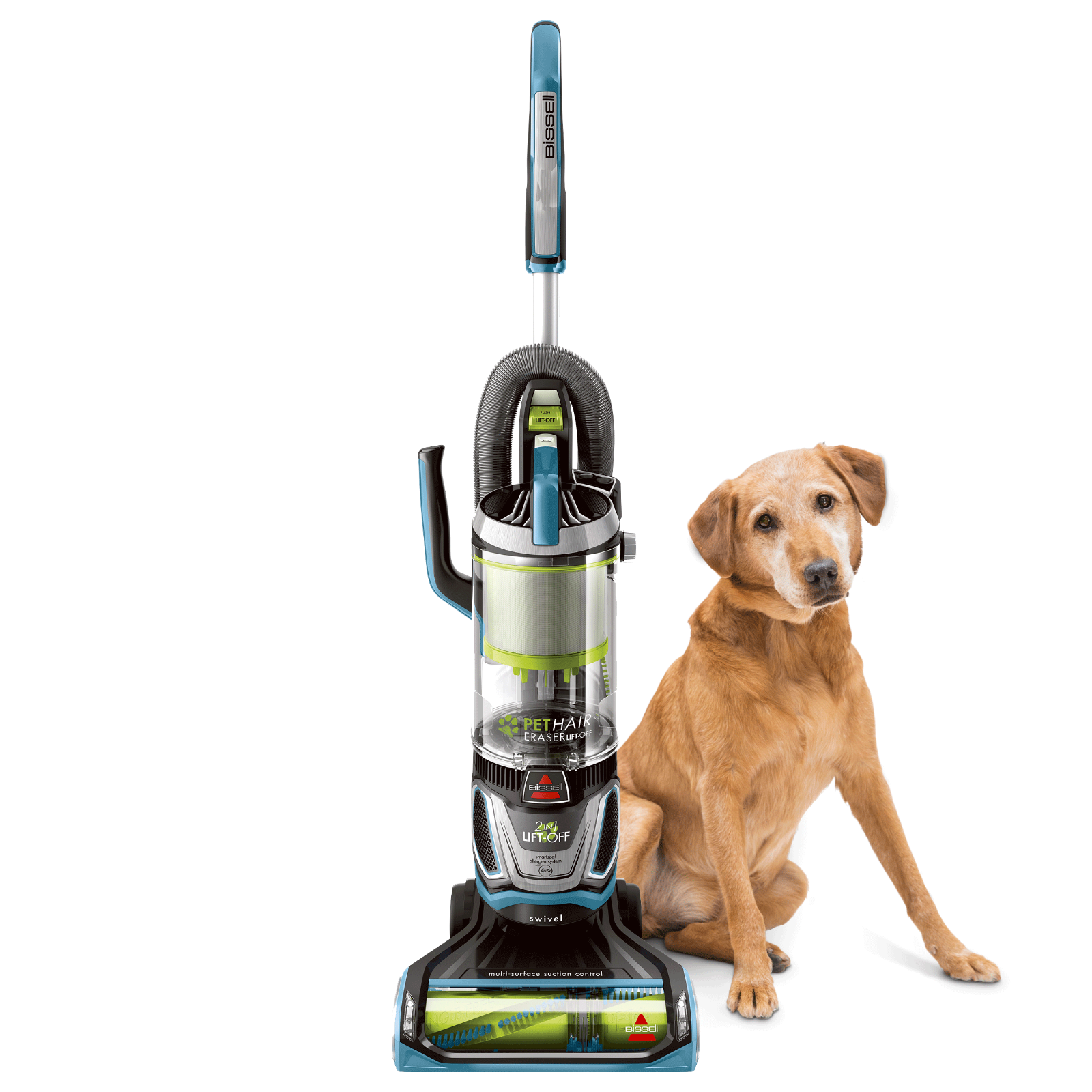 BISSELL 2087 Pet Hair Eraser Lift-off Bagless Upright Vacuum