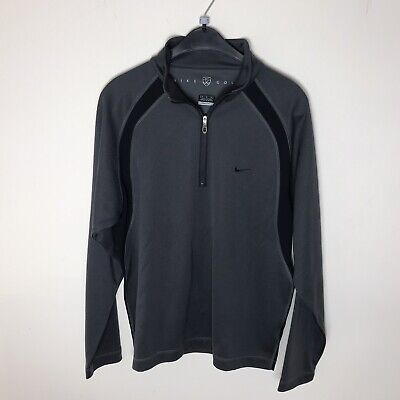 NIKE GOLF Men's Size M (38/40' Chest) Grey 1/4 Zip Up Top