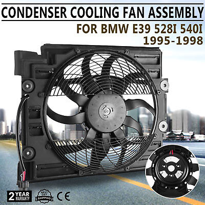 For BMW e39 (97-98) Auxiliary Fan A/C Condenser Radiator Electric Cooling