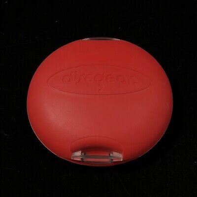 DiscGear 20 Disc Discus CD DVD Game Holder Hard Shell Red Storage Carry Case