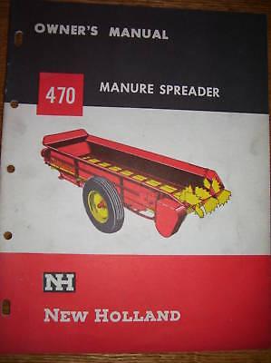 Vintage New Holland Operator Manual-470 Manure Spreader