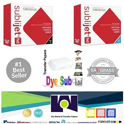 Sawgrass Sublimation Ink Cyan Black Cartridges For Sg400sg800 Free Paper