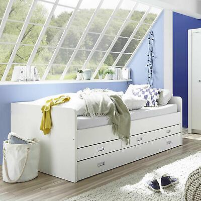 Bett Jugendbett 90x200 mit ausziebarem Gästebett Tandembett Buche massiv BOBBY