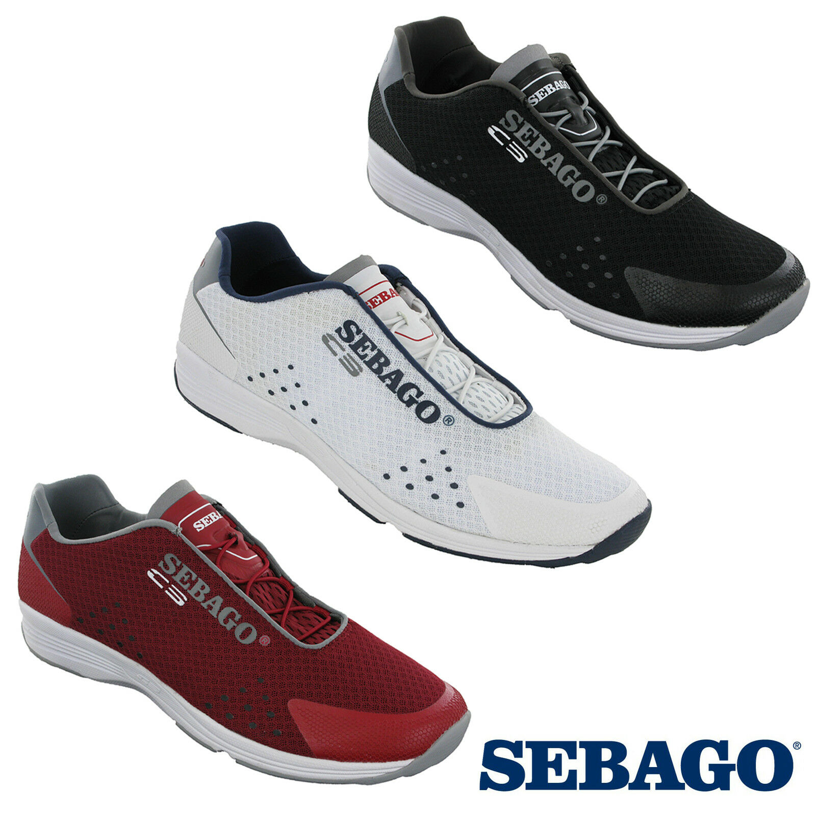 3b44329182ed Sebago Cyphon Sea Sport Mens Slip On Mesh Sports Fitness Running Trainers  Shoes