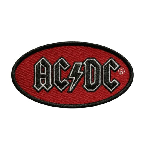 AC/DC Oval Logo Embroidered iron On Patch - Licensed 078-N