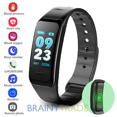 Fitness Tracker Waterproof Wristband Watch Blood Pressure Heart Rate Monitor