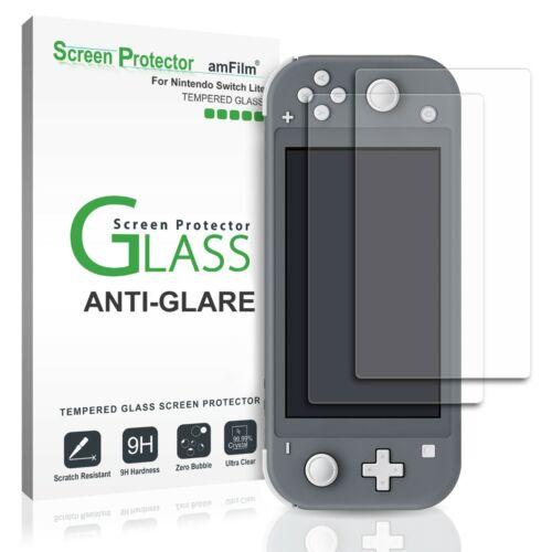 Nintendo Switch Lite amFilm Matte (Anti-Glare) Glass Screen Protector (2 Pack)