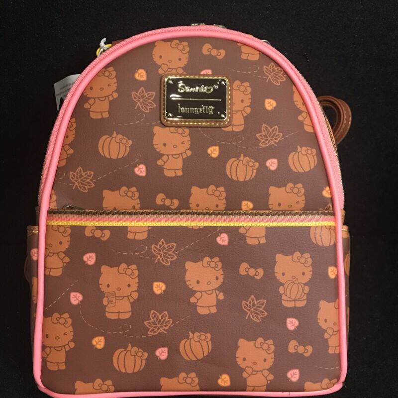 Loungefly Hello Kitty Pumpkin Spice Mini Backpack New In Hand