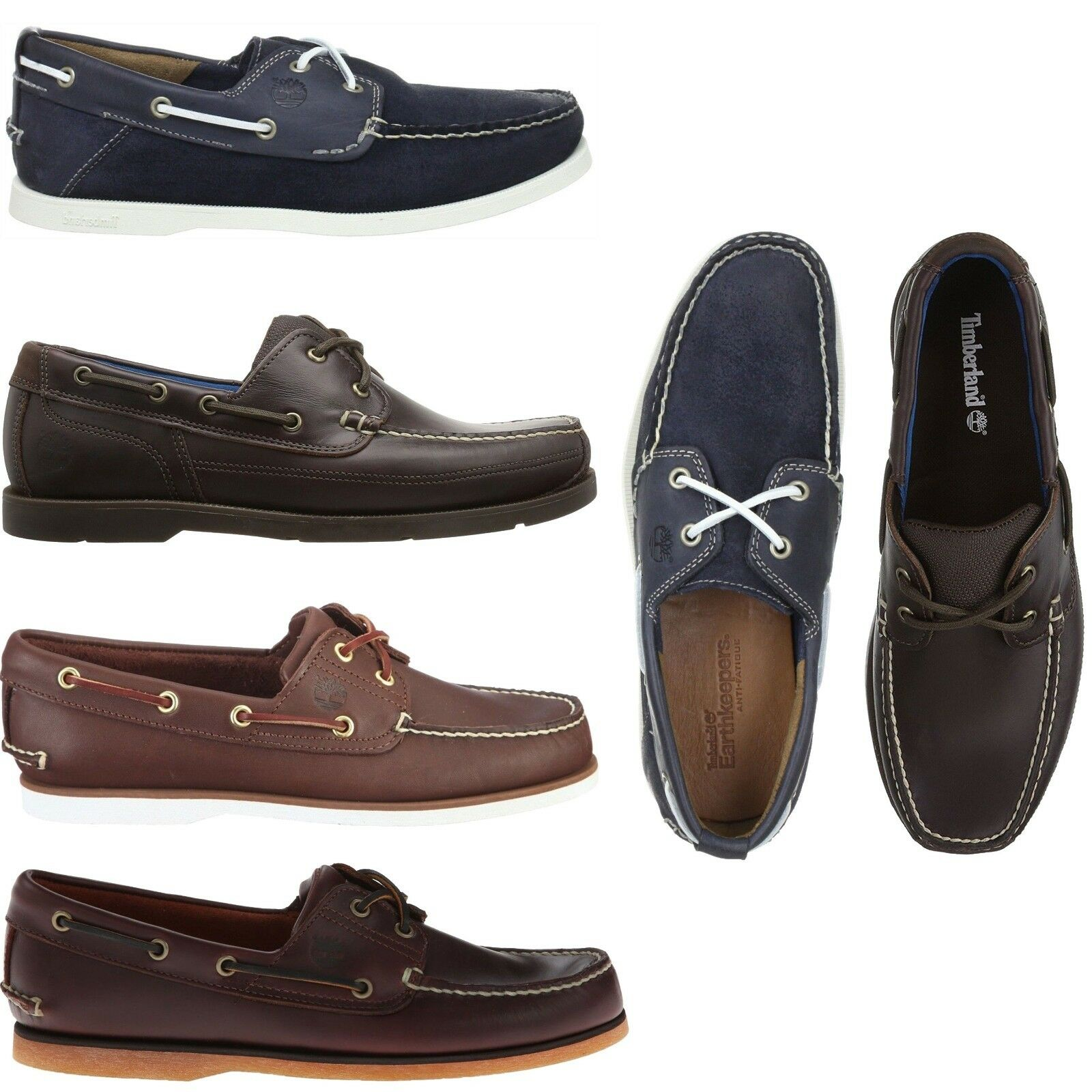 Timberland Men's Classic 2 Eye Boat Shoes Casual Slip On Leather Loafers NEW