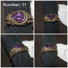 11. Amethyst ring and gold ring Newcastle Newcastle Area Preview