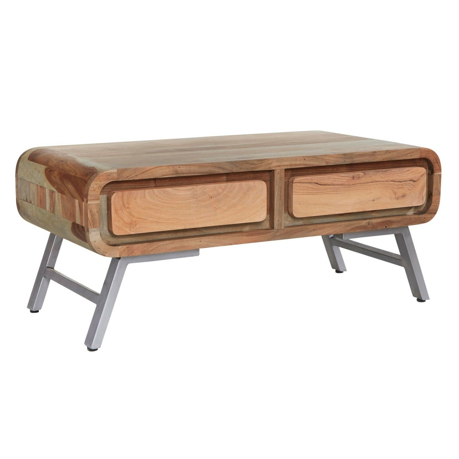 Details About Coffee Table With Drawers Two Tone Furniture Aspire Acacia Collection As10
