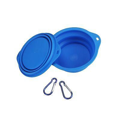 Qiuki XL Collapsible Dog Bowls - Extra Large 30oz, 7.7