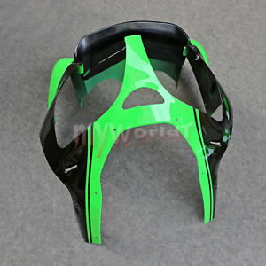 Front Upper Fairing Headlight Cowl Nose Fit For Kawasaki Ninja ZX6R 2000-2002 01
