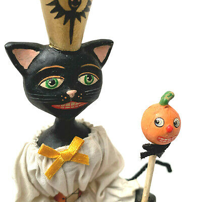 Allen W Cunningham For Bethany Lowe Hallowen Cat Lady Box Pumpkin On A Stick