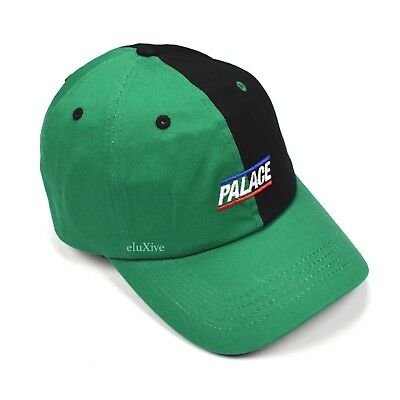 NWT Palace Skateboards Black Green Split Logo Basically A Hat Cap FW18 AUTHENTIC Green Basic Logo Hat