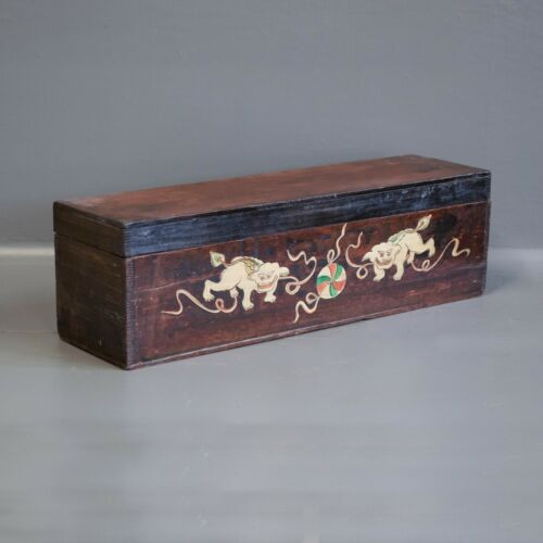 Chinese Painted Scroll Box