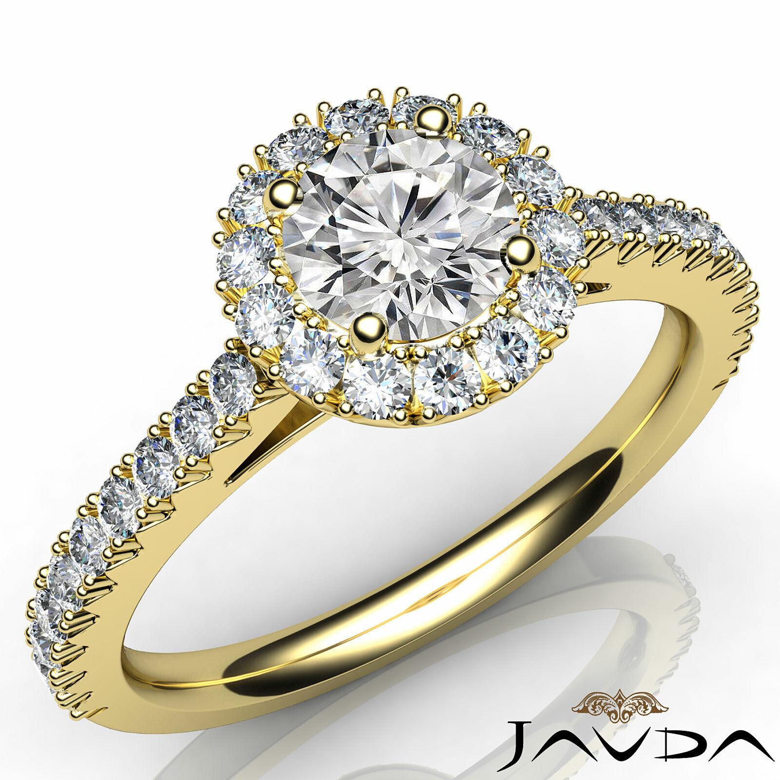 1.5ctw Double Prong Round Diamond Engagement Ring GIA E-VS2 White Gold Women New 6