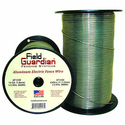 Field Guardian 15 Ga Aluminum Wire 12 Mile Electric Fence Af1550 814421012531