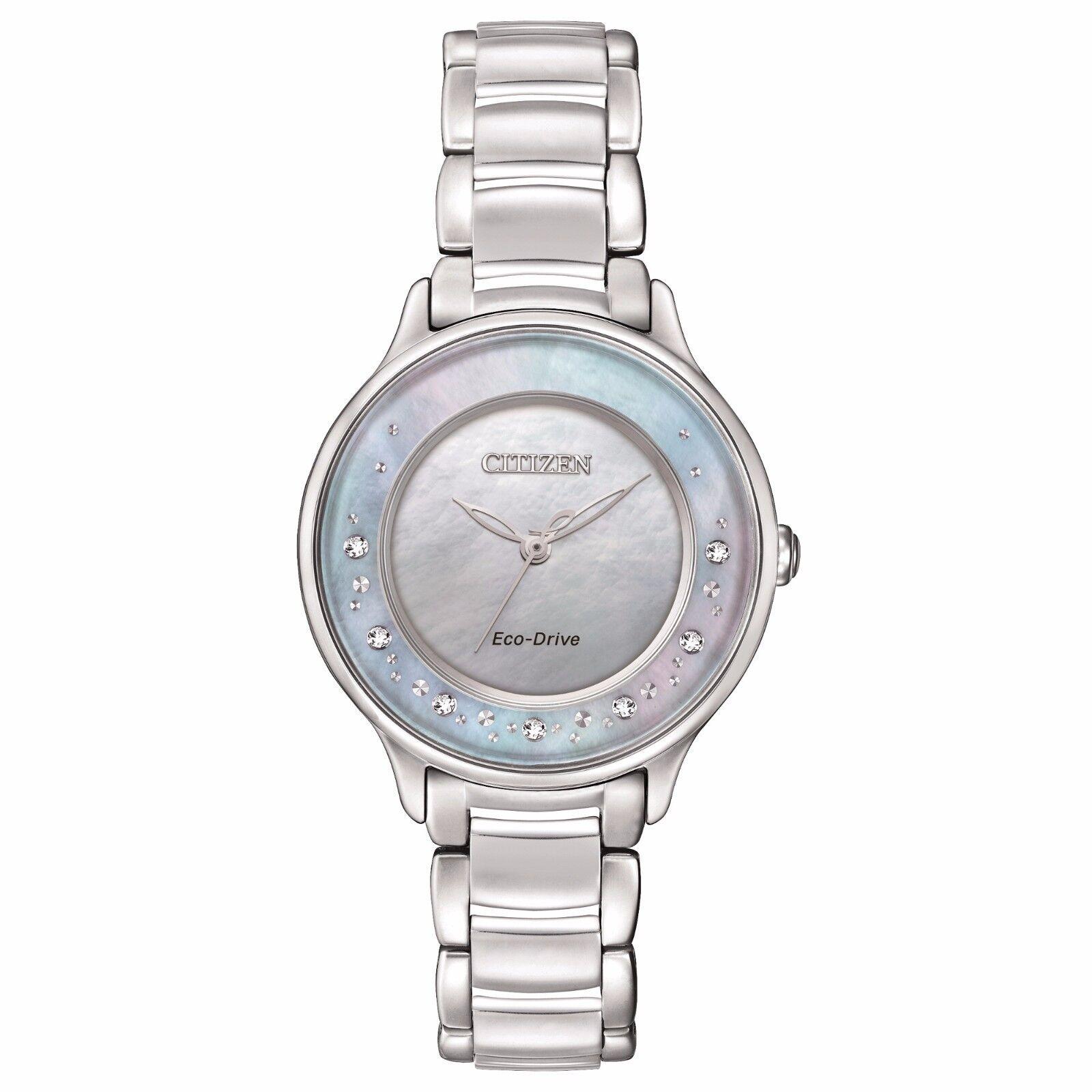 Citizen Eco-Drive Women's Silver-Tone Circle of Time Diamonds Watch EM0380-81N