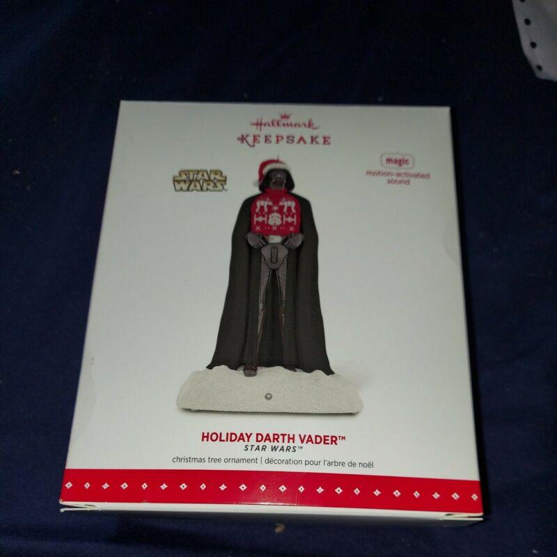 2015 Star Wars Holiday DARTH VADER  Hallmark Keepsake Ornament magic motion NIB