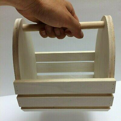 Lot/6 Mini Miniature Natural Wood Baskets 6
