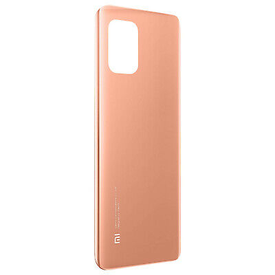 Abdeckung Batterie Xiaomi Mi 10 Lite Fassade Rückersatz Rosa Champagnerfarben