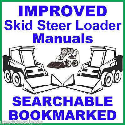 Case 1840 Skid Steer 2 Manuals Service Repair Manual Parts Catalog Best Cd