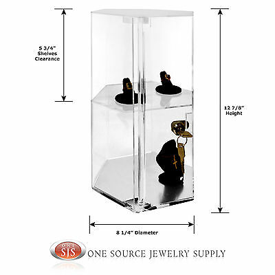 Display Showcase Counter Top Display Revolving Acrylic Display Rotating Case
