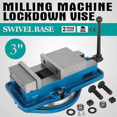 3 Inch Vise Precision Milling Drilling Machine Clamp Vice Fixed Base New