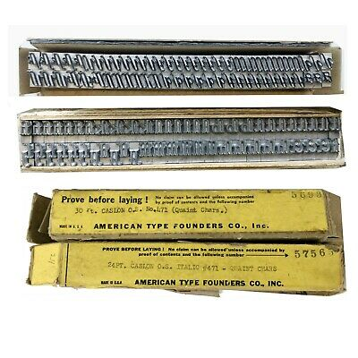 Kingsley Kwikprint Stamping Machine Type Letter Set