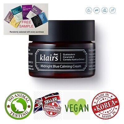 Klairs Midnight Blue Calming Cream 30ml +Free Sample - Korean skincare UK SELLER