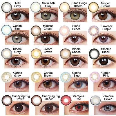 Gray Choco Brown Black Colored Contact Korean Circle Lenses