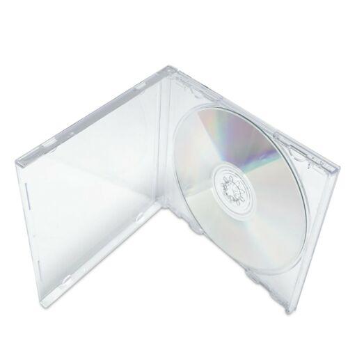 Standard CD Jewel Case - Clear - Assembled, 25 Pack