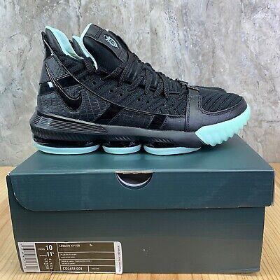 Nike LeBron XVI 16 SB Glow Size 10 Mens Black Basketball Shoes