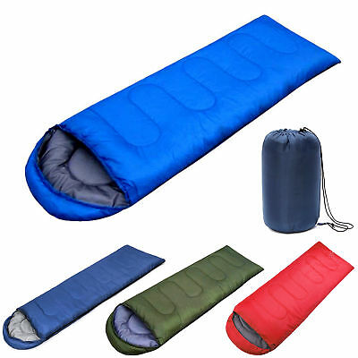 Sleeping Bag Single Person Zip Hiking Camping Suit Case Envelope Waterproof](Personalized Sleeping Bags)