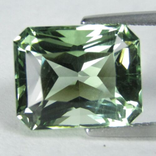 6.93Cts Natural Green Amethyst (prasiolite) Radiant Cut Loose Gemstone REF VIDEO