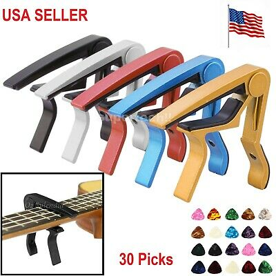 USA Guitar Capo Acoustic Clip Guitar String Instrument Clamp Fret Electric Bass