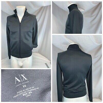 Armani Exchange Track Jacket XS Men Gray Poly Cotton Full Zip YGI B0-318