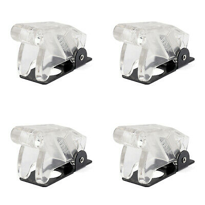 4x Toggle Switch Boot Plastic Safety Flip Cover Cap 12mm Clear White Ua
